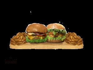 Simply 33 Offers - 2 vegan/vegetarian burgers & 2 american wedges,