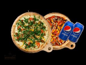 Simply 33 Offers - 2 vegan/vegetarian pizzas & 2 pepsi