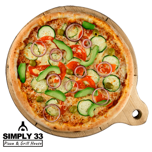 Simply 33 - Vegetarian red pizza