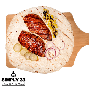 Simply 33 - Grilled chicken breast with BBQ dip