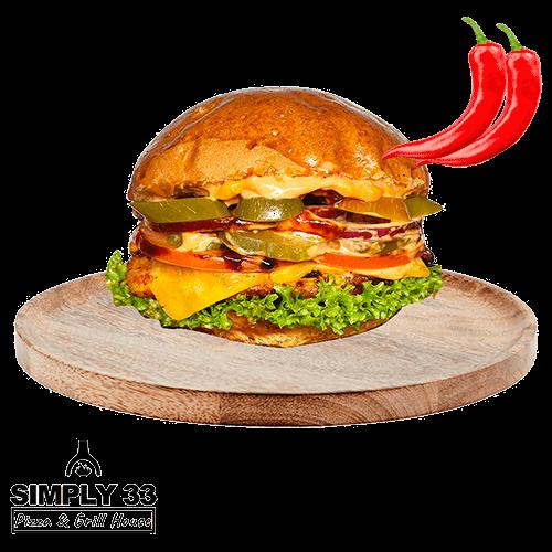 Simply 33 - Spicy Chicken Burger