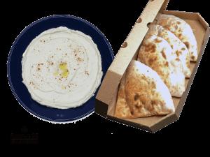 Hummus Israeli Classic & Homemade Bread From Oven
