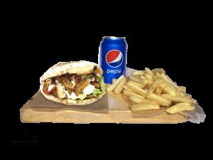 Set Panuzzo carne Vegetarian, French Fries, Pepsi 0,33l