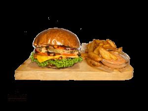 Simply Chicken Burger + Americké brambory & Dip