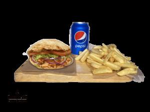 Set Panuozzo Napoletano Pollo, French fries & Pepsi 0,33l