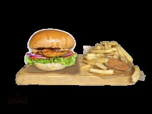 Grilled Chicken Sandwich + French Fries & Dip