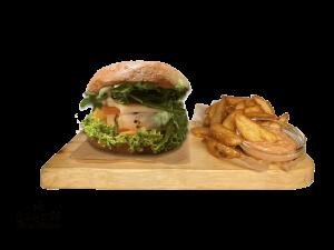 Grilled Vegetarian cheeseburger