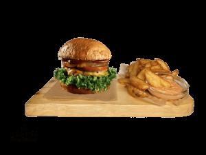 Pineapple vegetarian Burger + Americké brambory a BBQ Dip