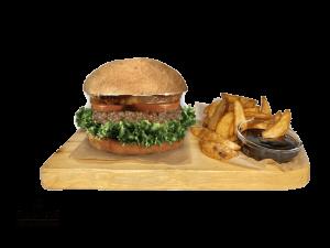 Pineapple vegan burger