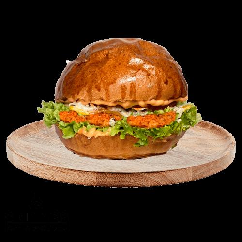 blue chicken burger
